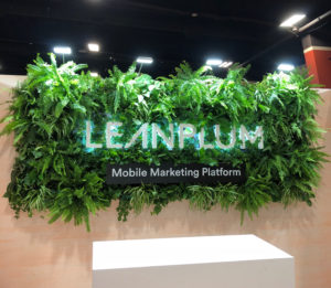 trade show booth design living wall